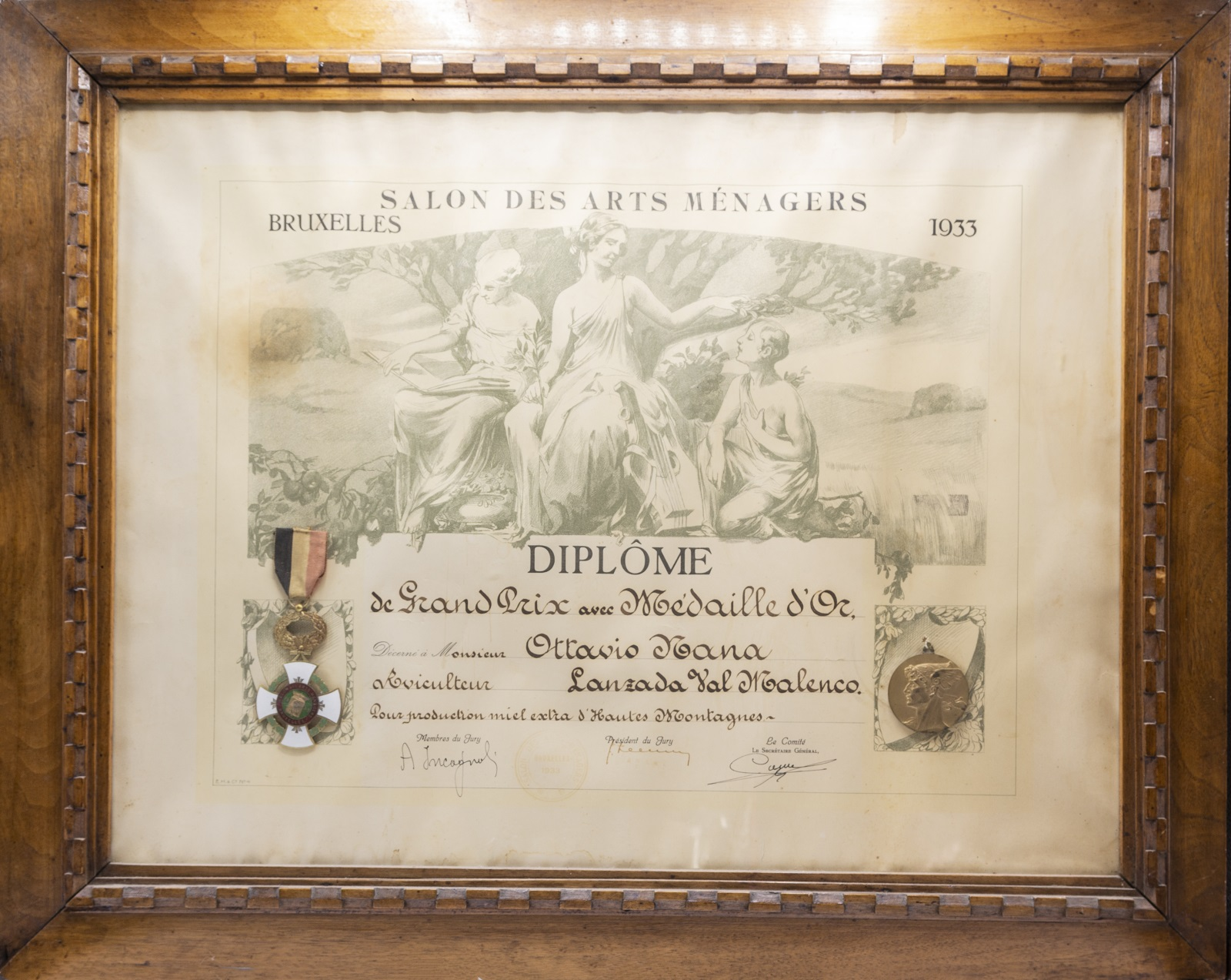 Medaglia d'oro a Bruxelles